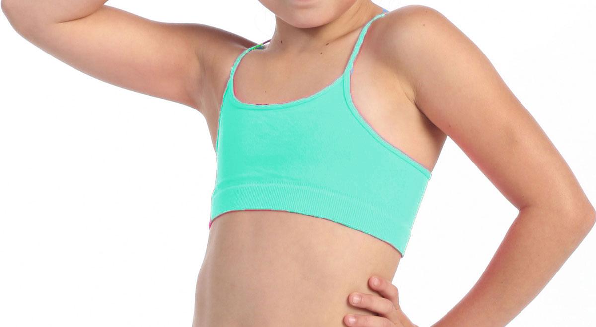 Brassière de danse enfant vert menthe