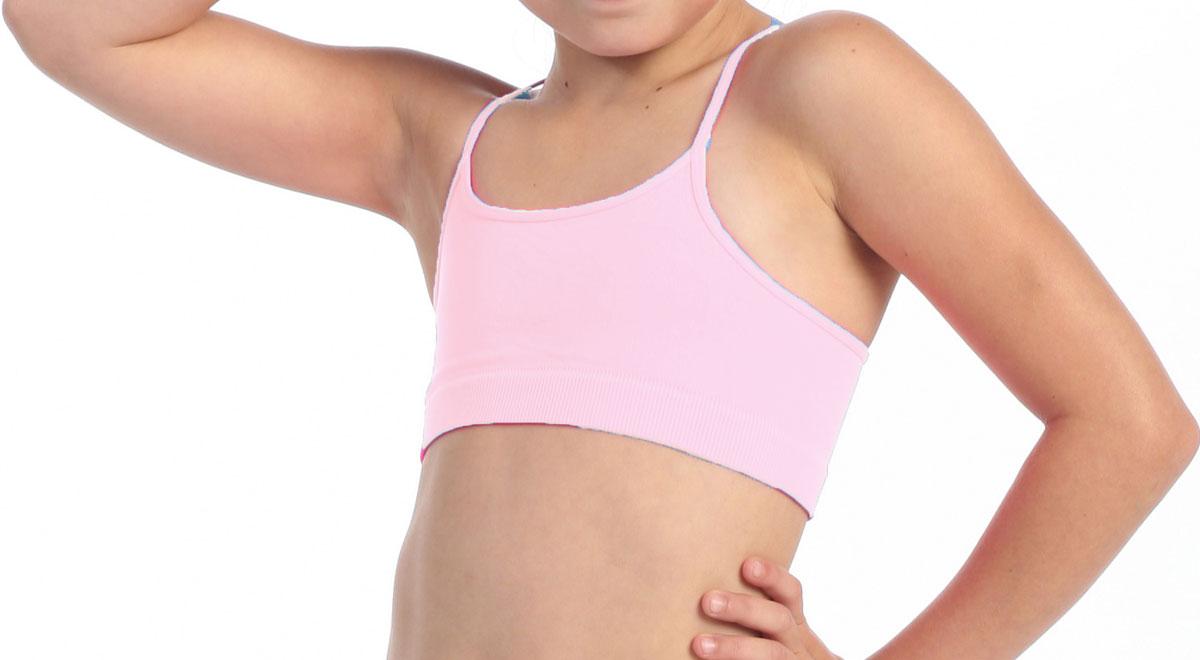 Brassière de danse enfant rose pastel