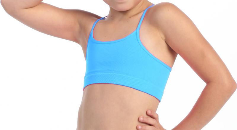 Brassière de danse enfant turquoise