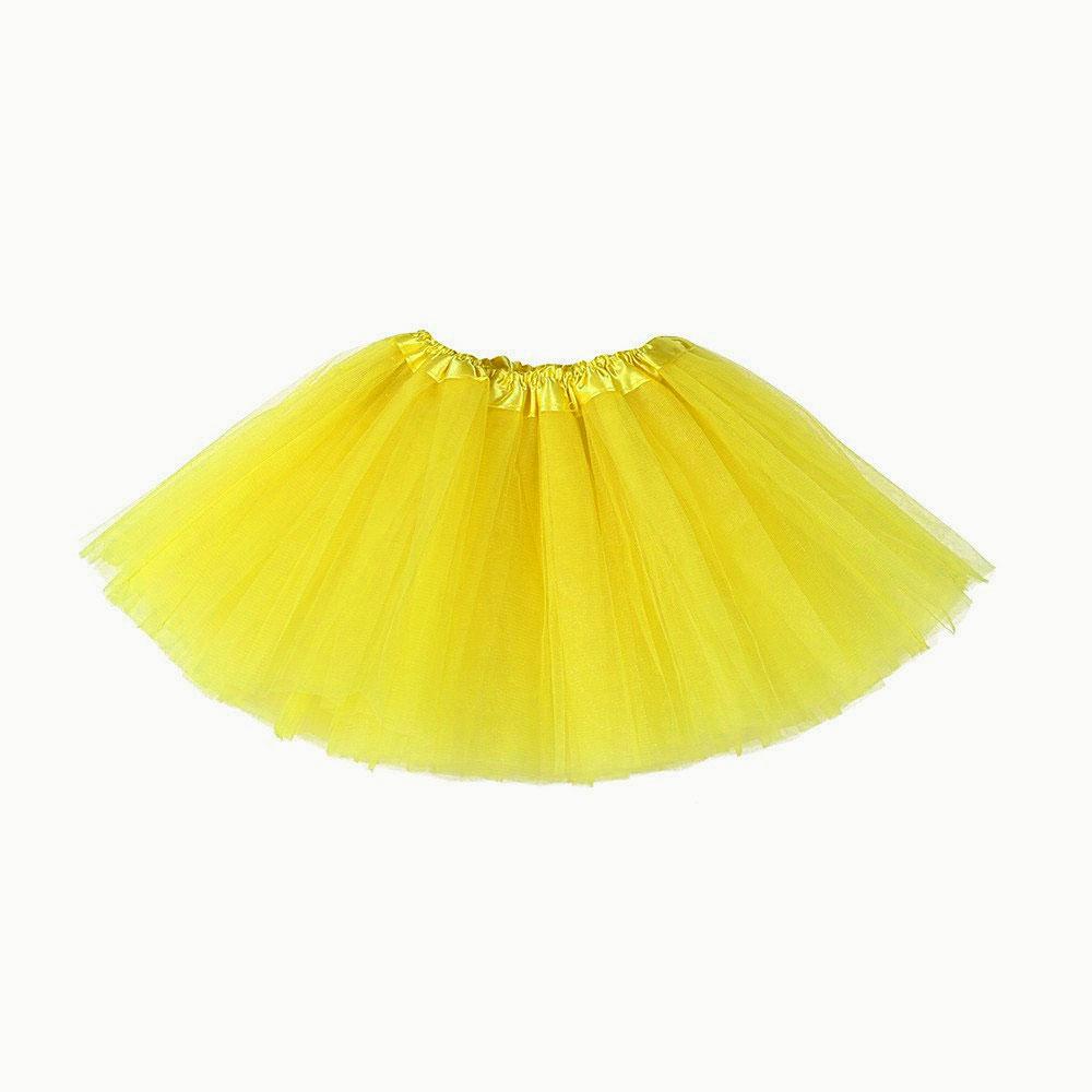 Jupe tutu tulle jaune mi longue 40 cm