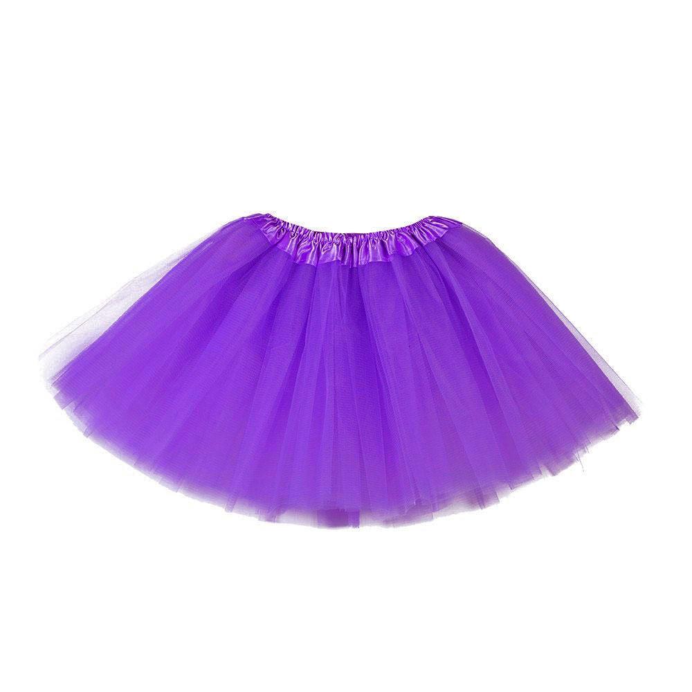 Jupe tutu tulle violet moyen 30 cm