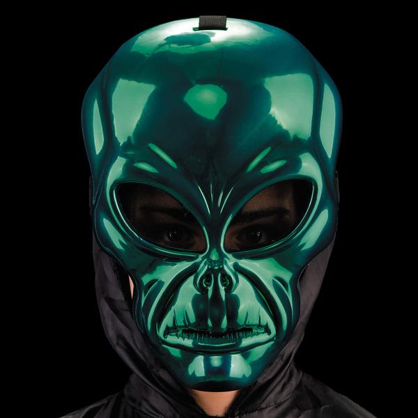 Masque alien vert