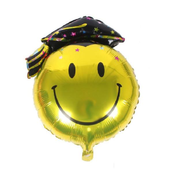 Ballon smiley remise de diplome