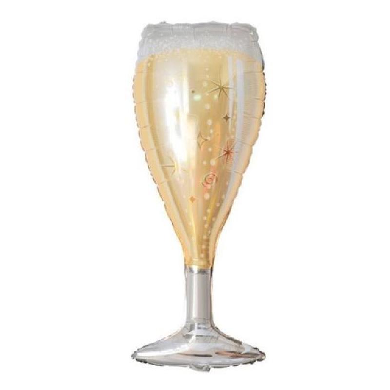 Ballon mylar flute à champagne