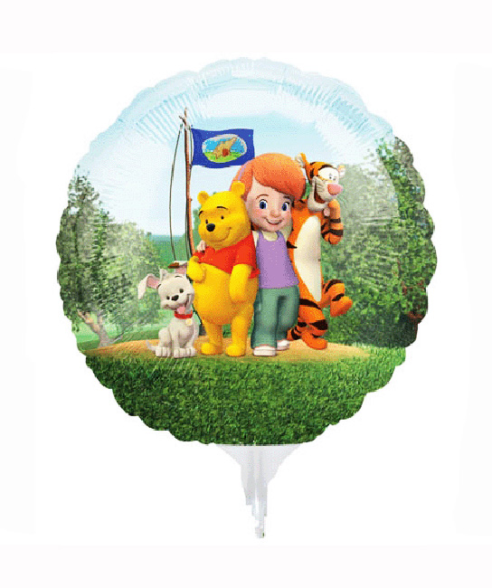 3 mini ballons winnie