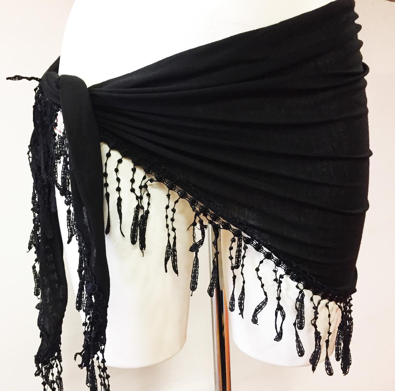 Châle de danse noir