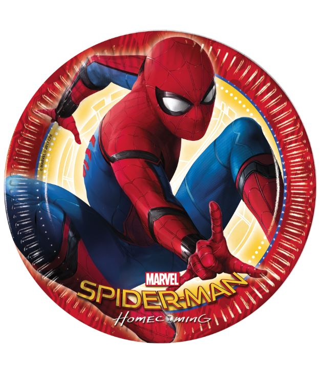 8 Assiettes Spiderman 17.8