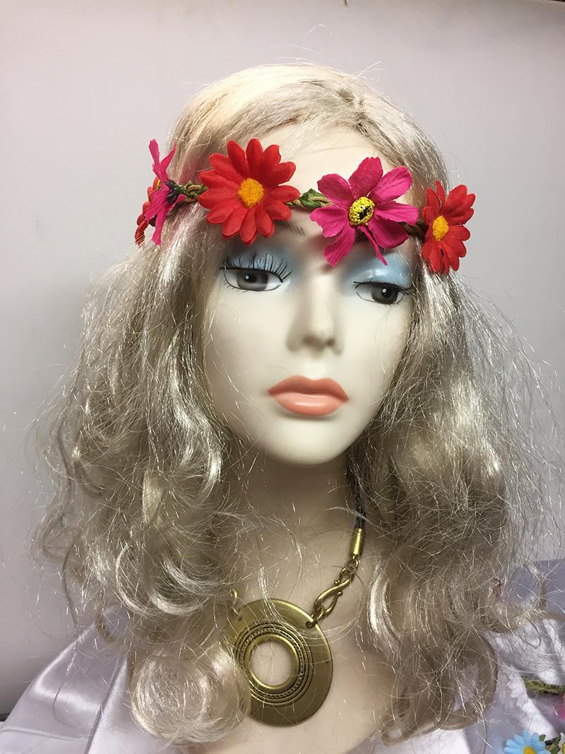 Couronne de fleurs en tissus