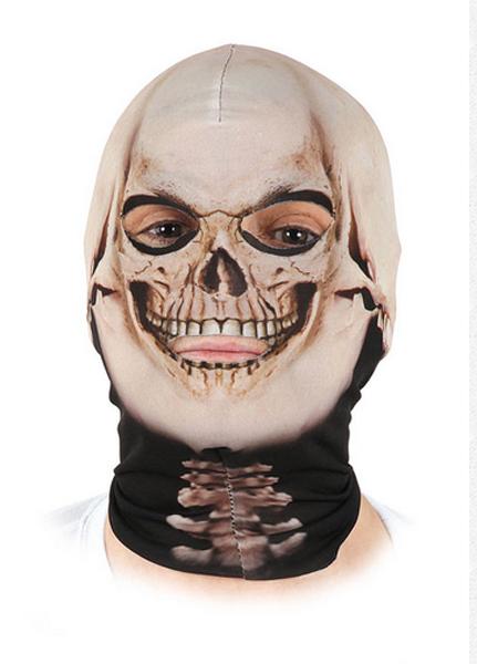 Cagoule lycra squelette