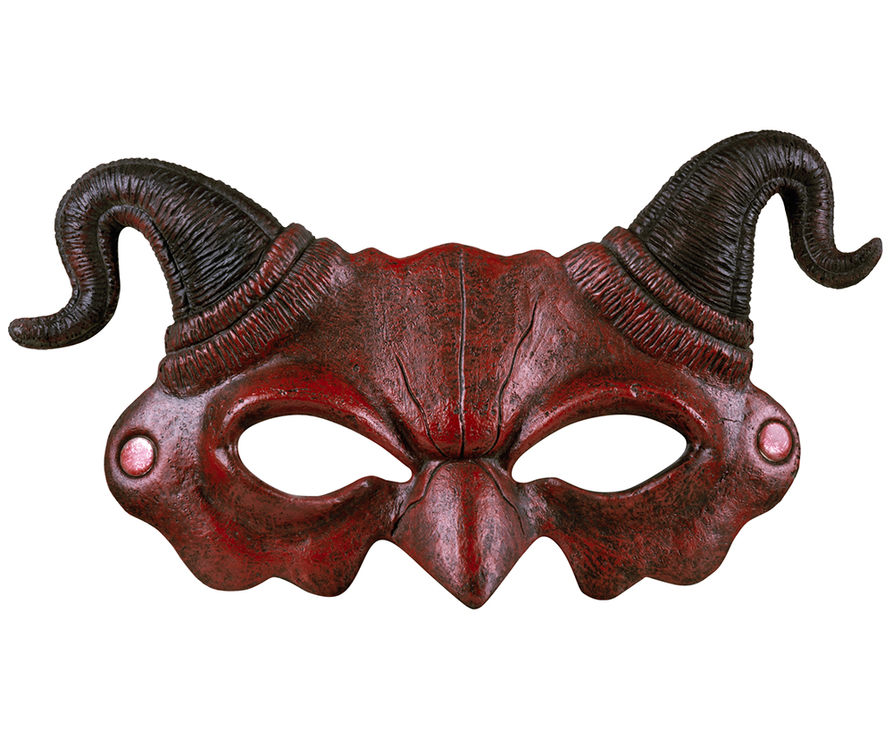 Demi masque de démon en mousse