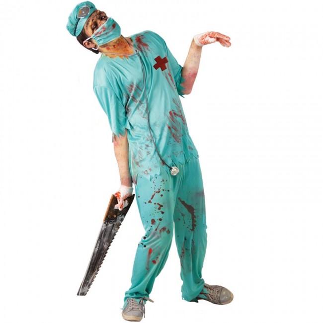 Déguisement de Chirurgien Vert zombie