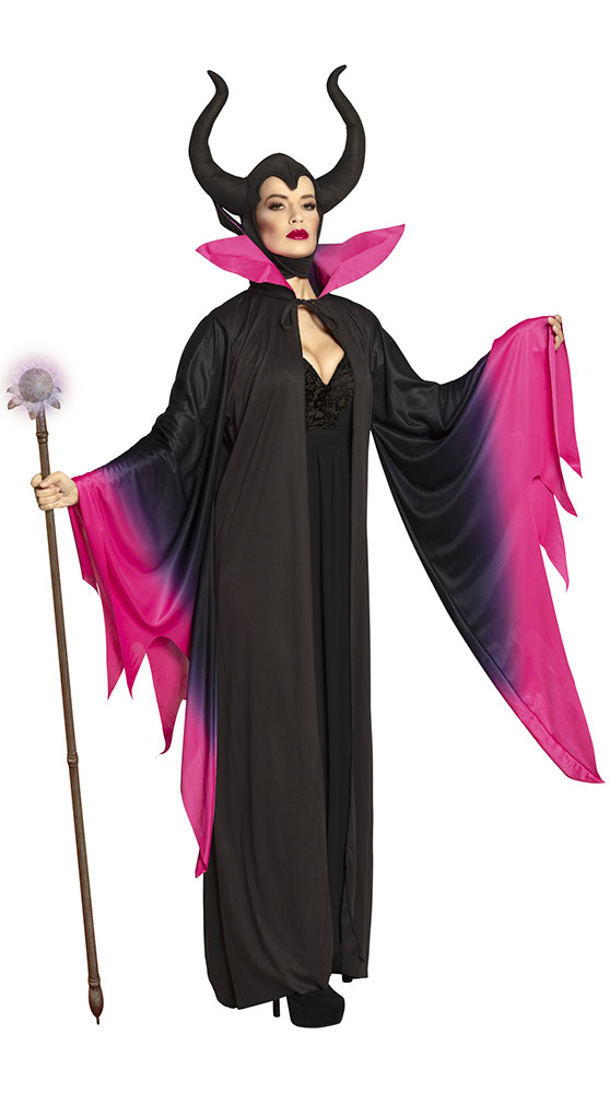 Déguisement manteau sorcière maléfique