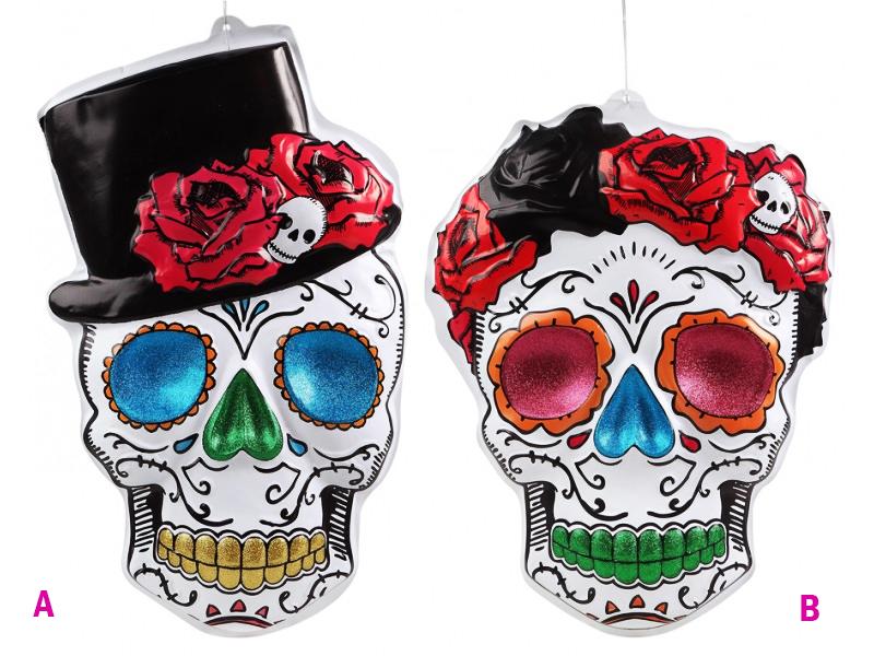 Décor 3D jour des morts mexicain