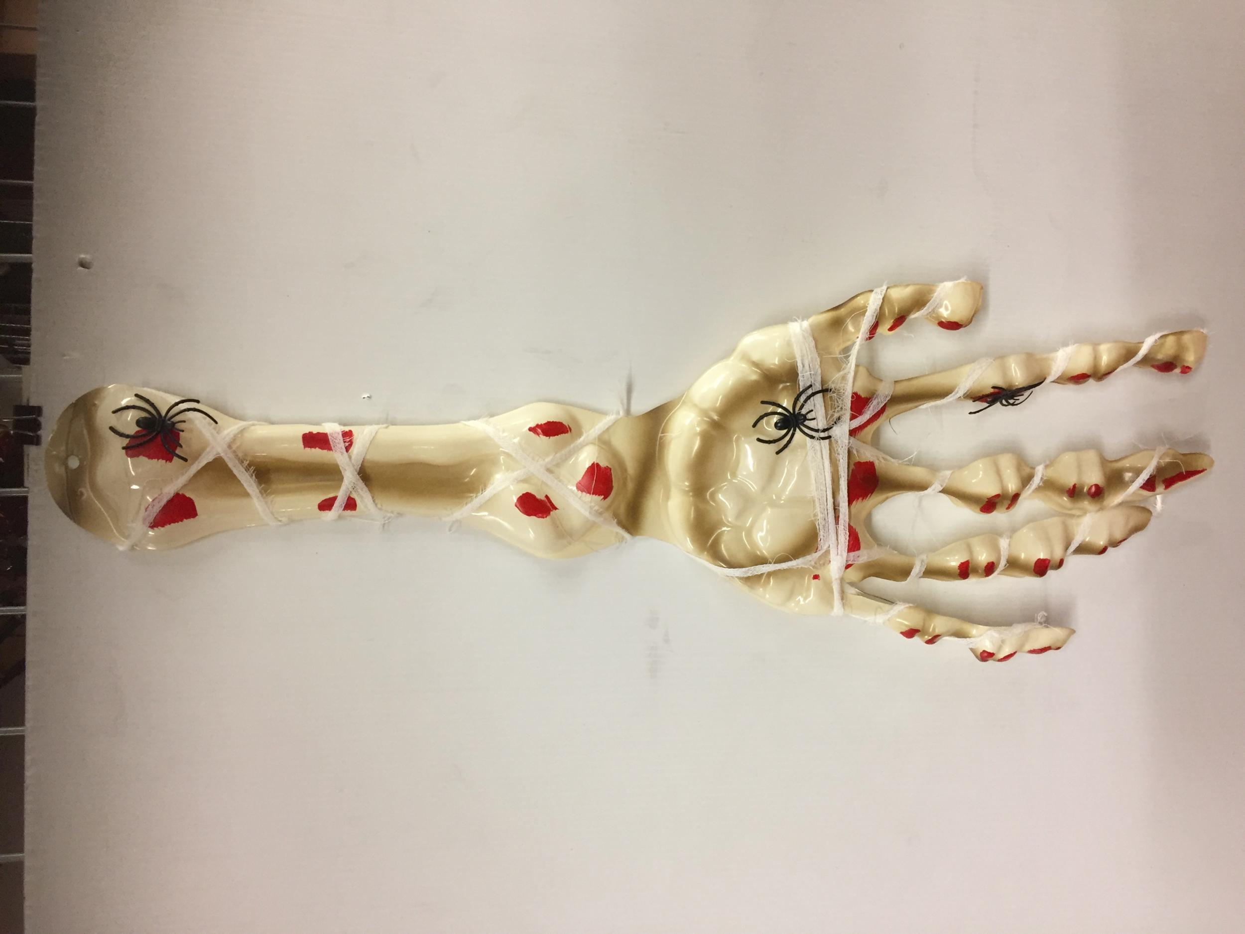 Bras squelette 3D 65 CM