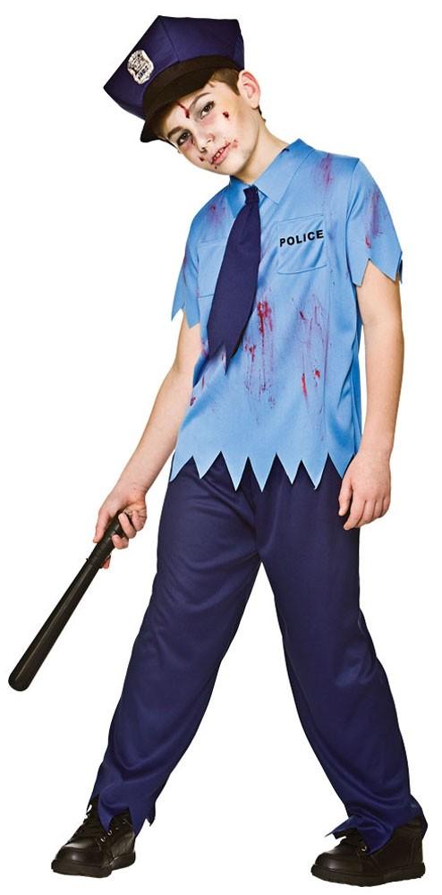 Déguisement policier zombie enfant