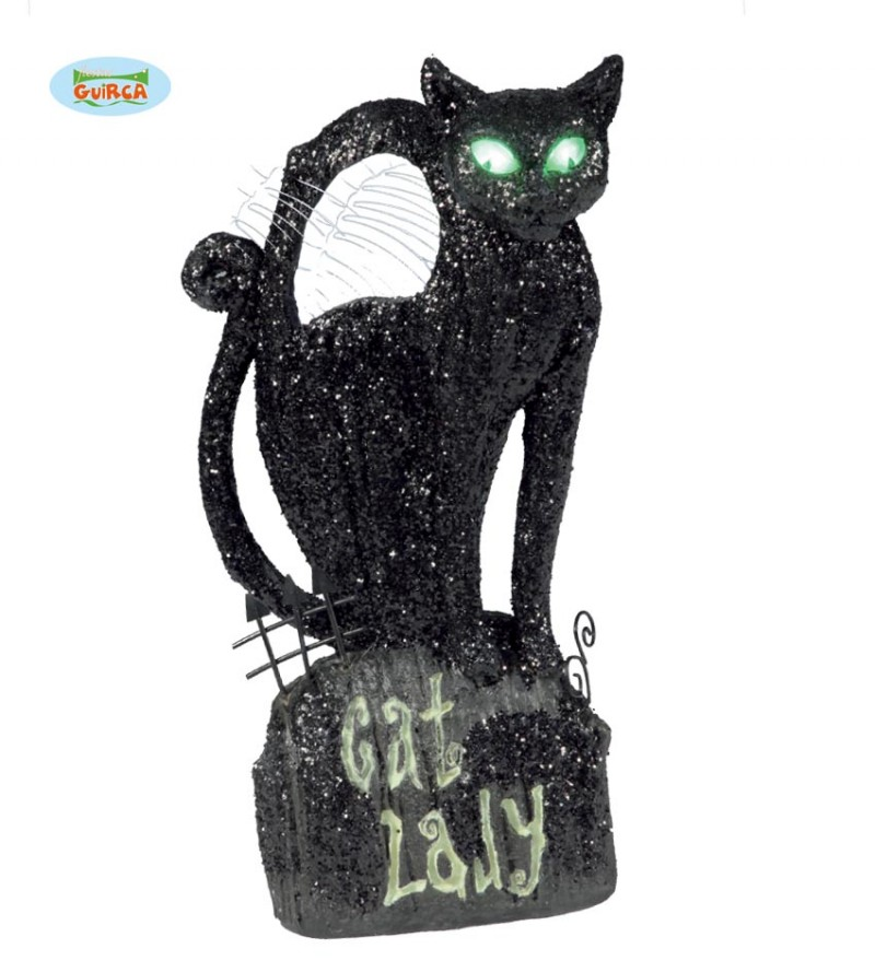 Chat noir lumineux