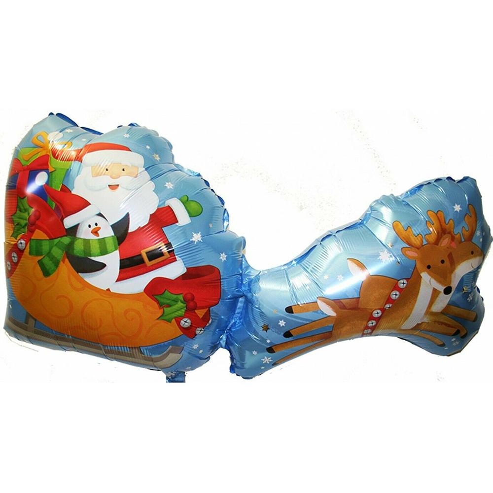 Ballon mylar traineau du père Noel