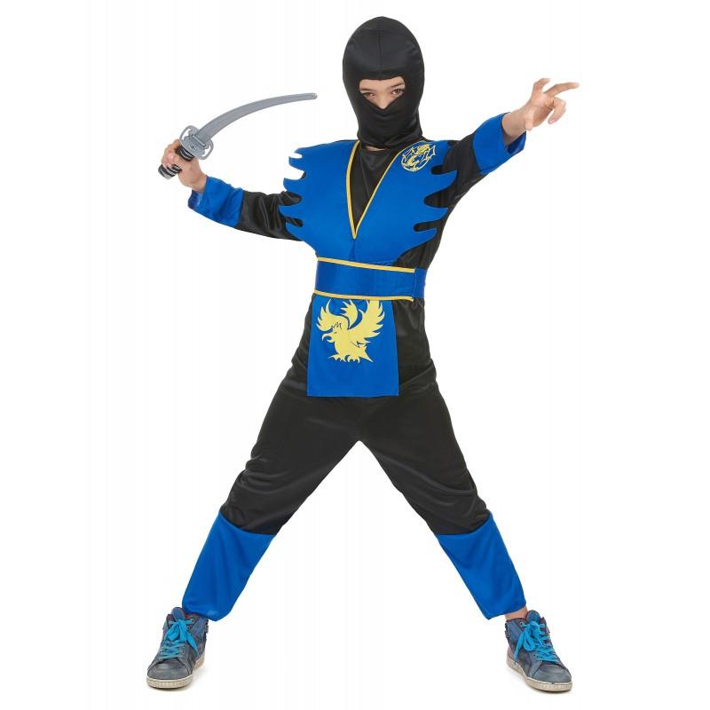 Déguisement enfant Ninja bleu