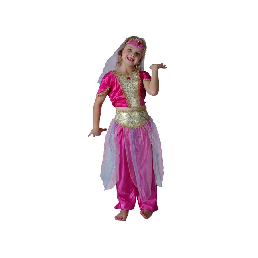 Déguisement de danseuse orientale rose enfant