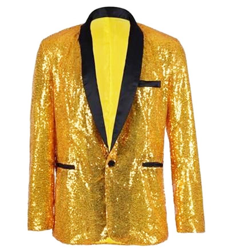 Veste à paillettes or