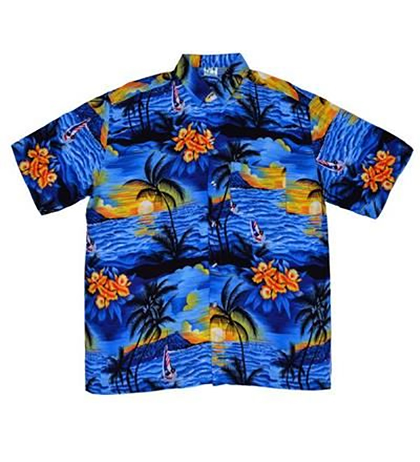 Chemise hawaienne bleue