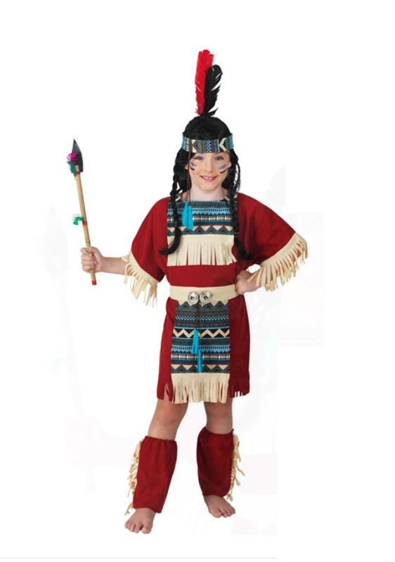 deguisement indienne rouge enfant