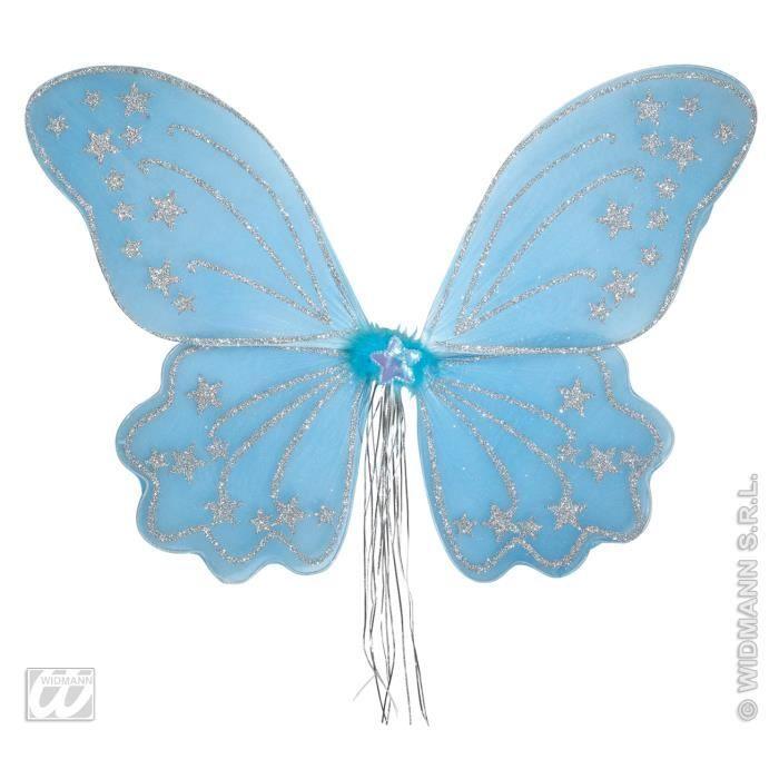 Ailes de papillons en tulles bleues