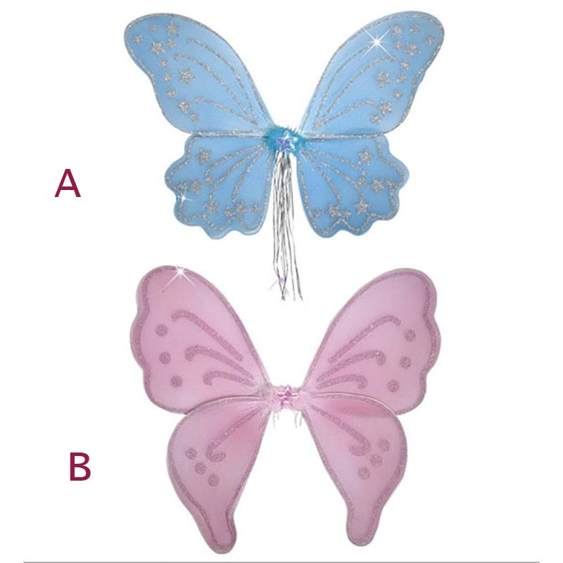 Ailes de papillons mousseline rose modele B