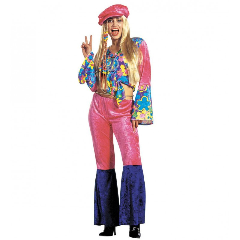 Déguisement hippie femme fleuri