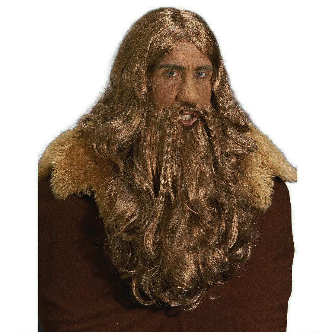Perruque de viking ou barbare rousse