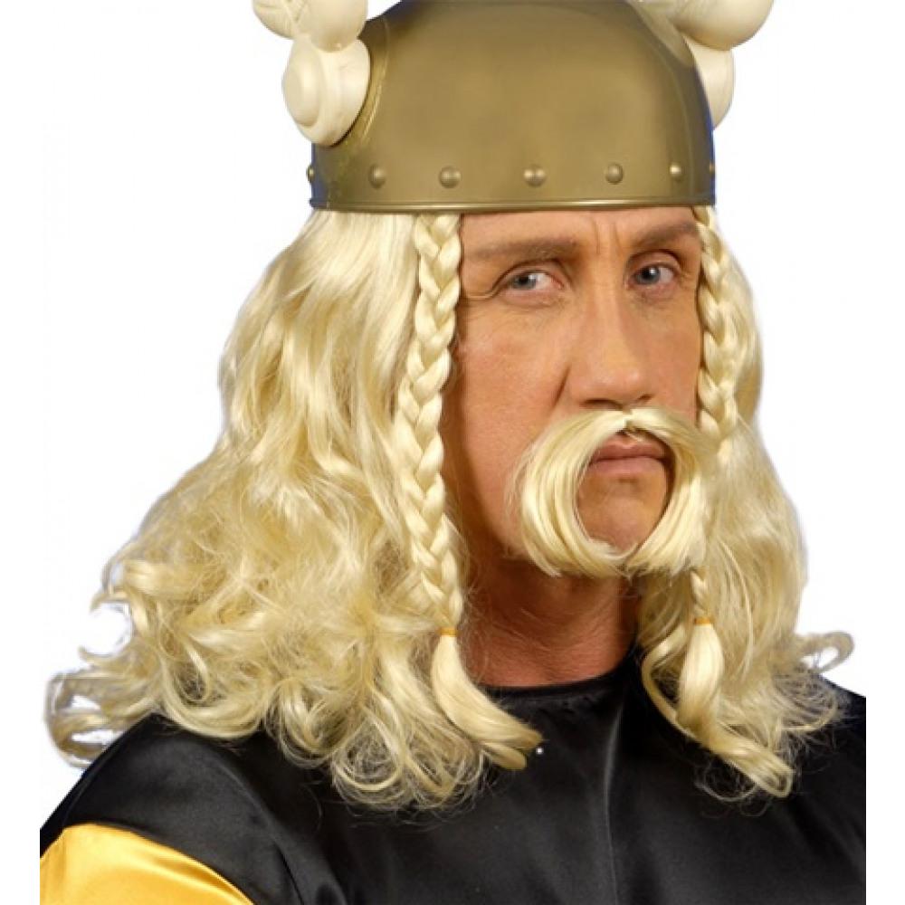Perruque de Gaulois avec moustaches