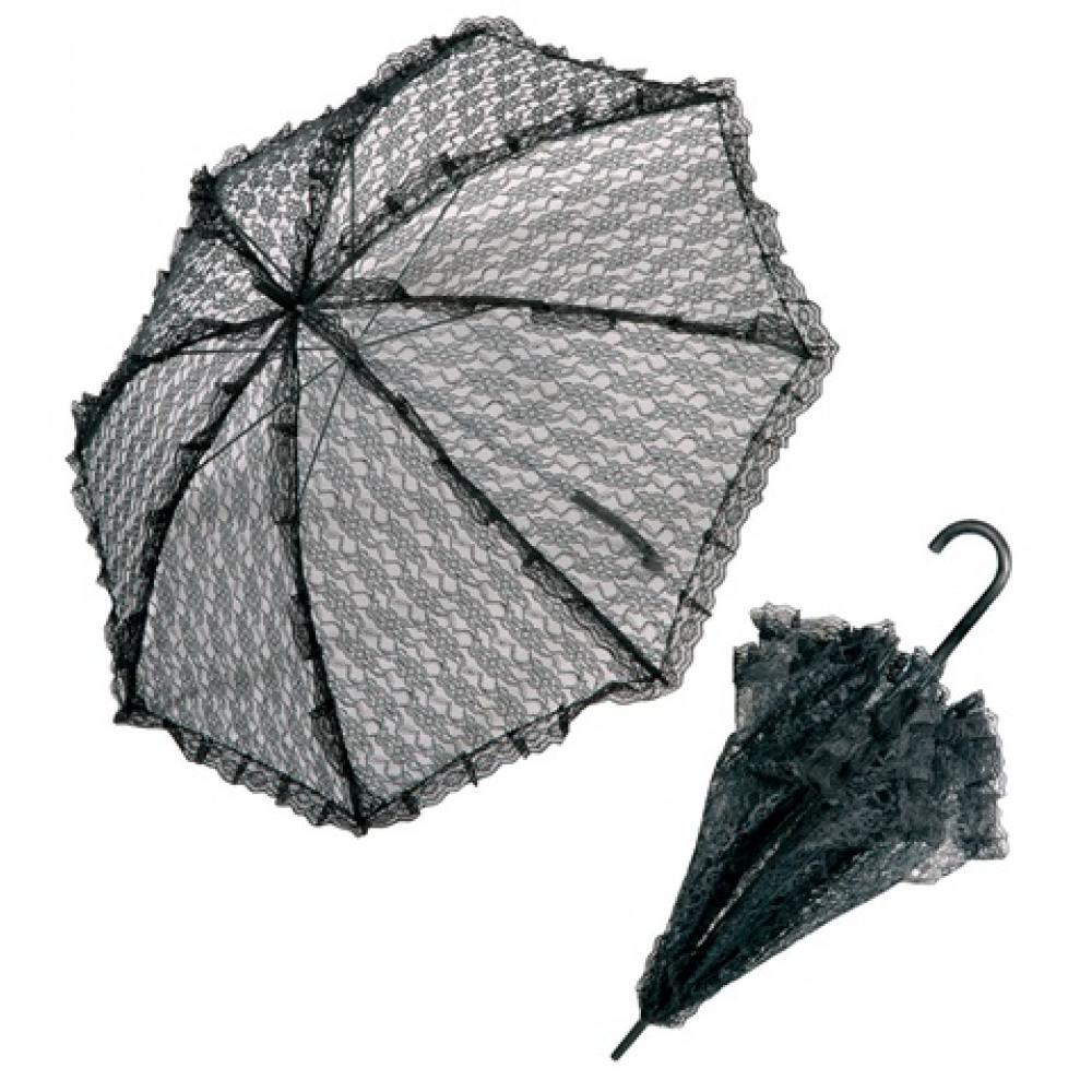 Ombrelle en dentelle noire