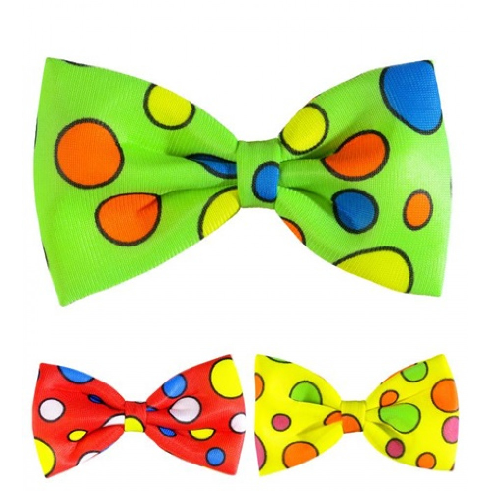 Noeud papillon géant  clown fluo