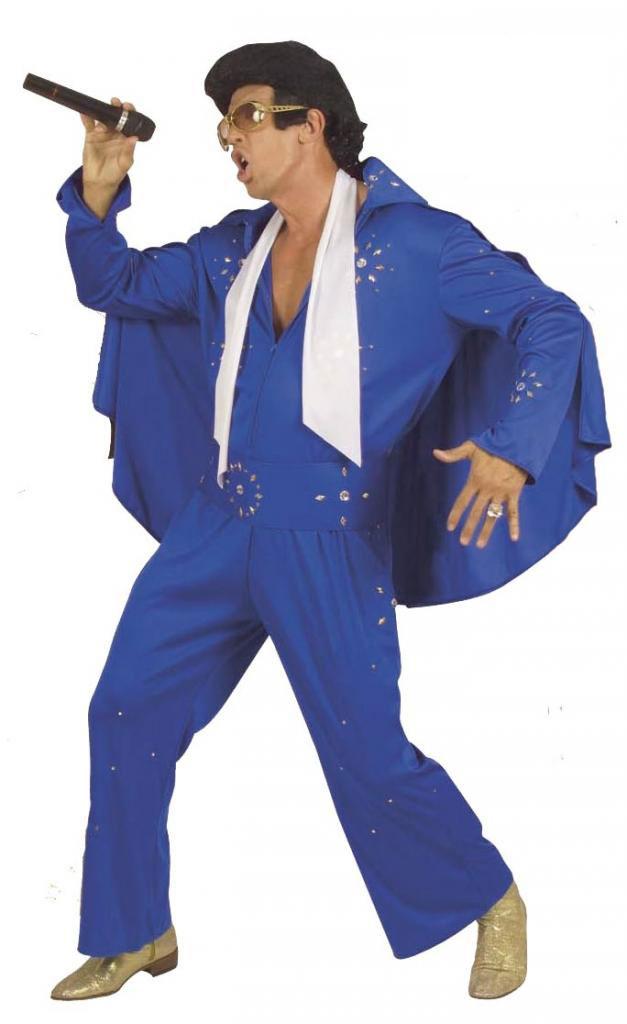 Costume King of rock Elvis de luxe bleu