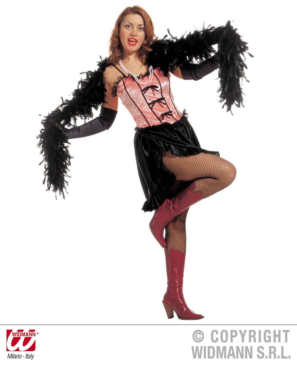 Déguisement saloon girl rose et noir