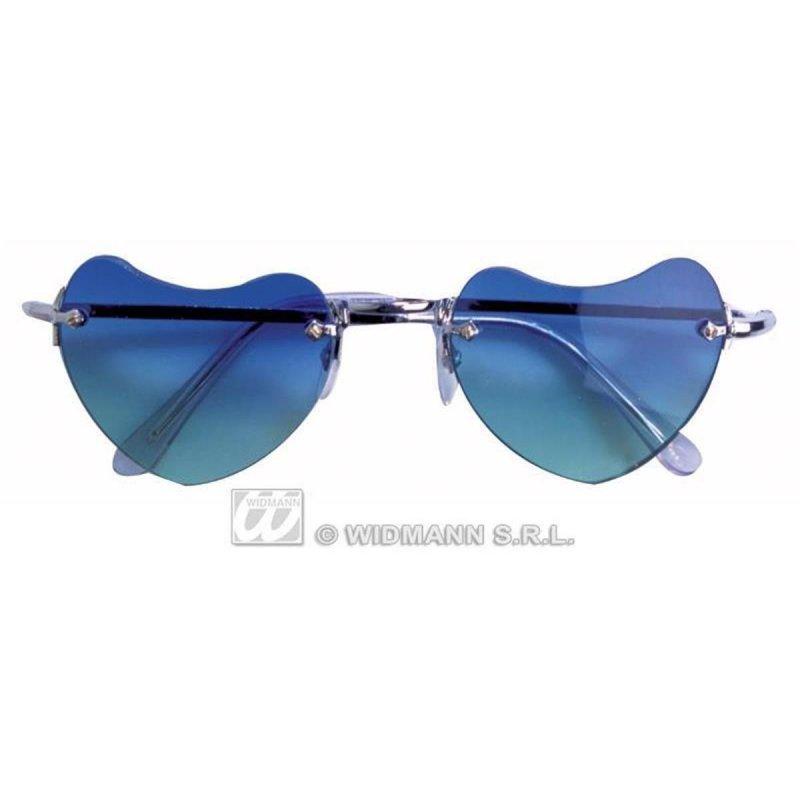 Lunettes coeur bleues
