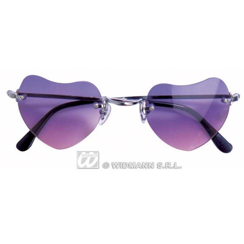 Lunettes coeur violettes