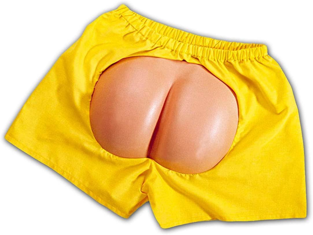 Short jaune avec fesses