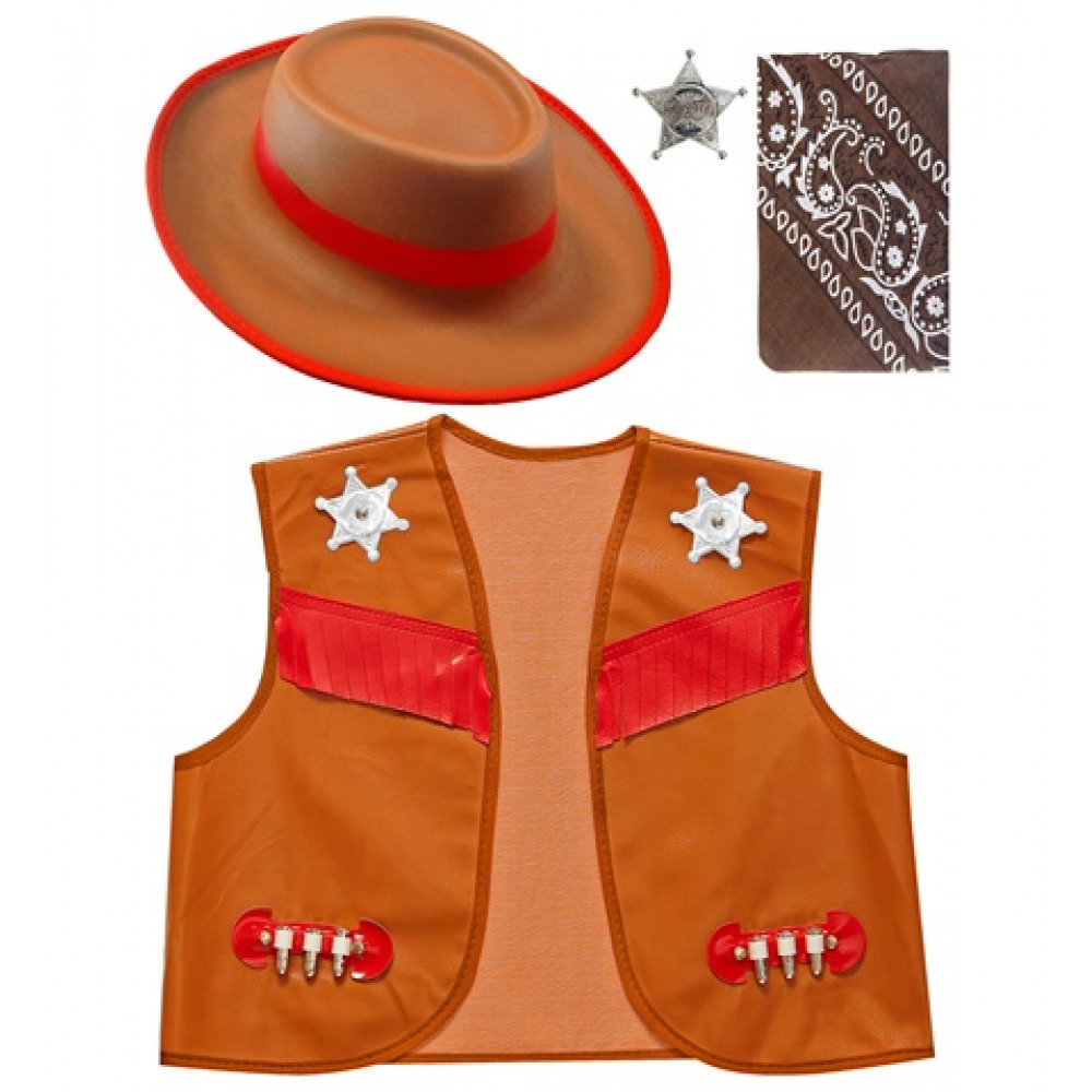Set de cowboy enfant marron