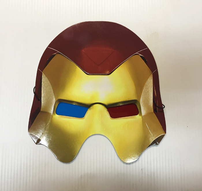 Masque de Iron Man en carton