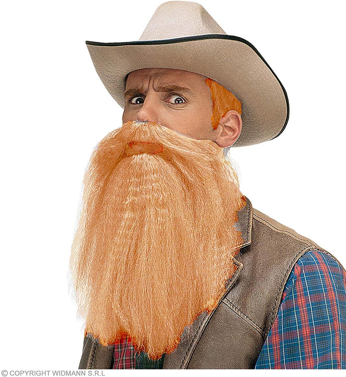 Barbe et moustaches blondes avec lèvres