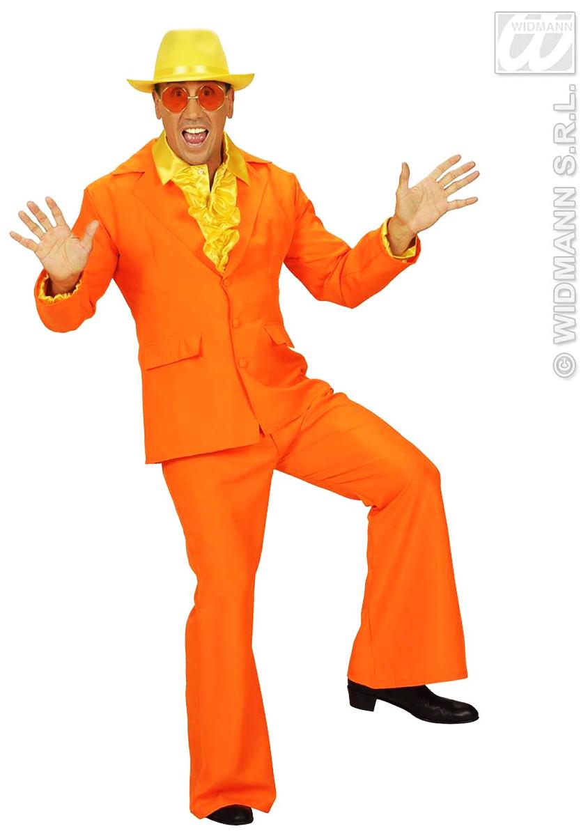 Costume de fêtes homme orange fluo