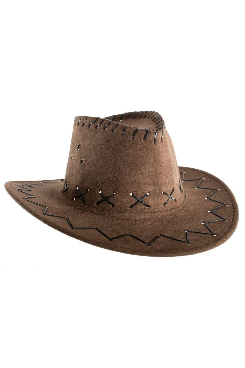 Chapeau Western en suédine chocolat