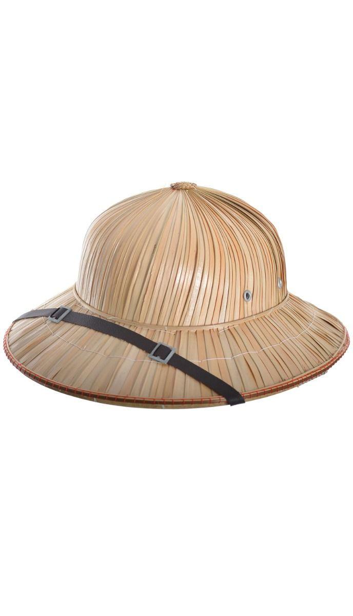 Casque d\'explorateur en bambou