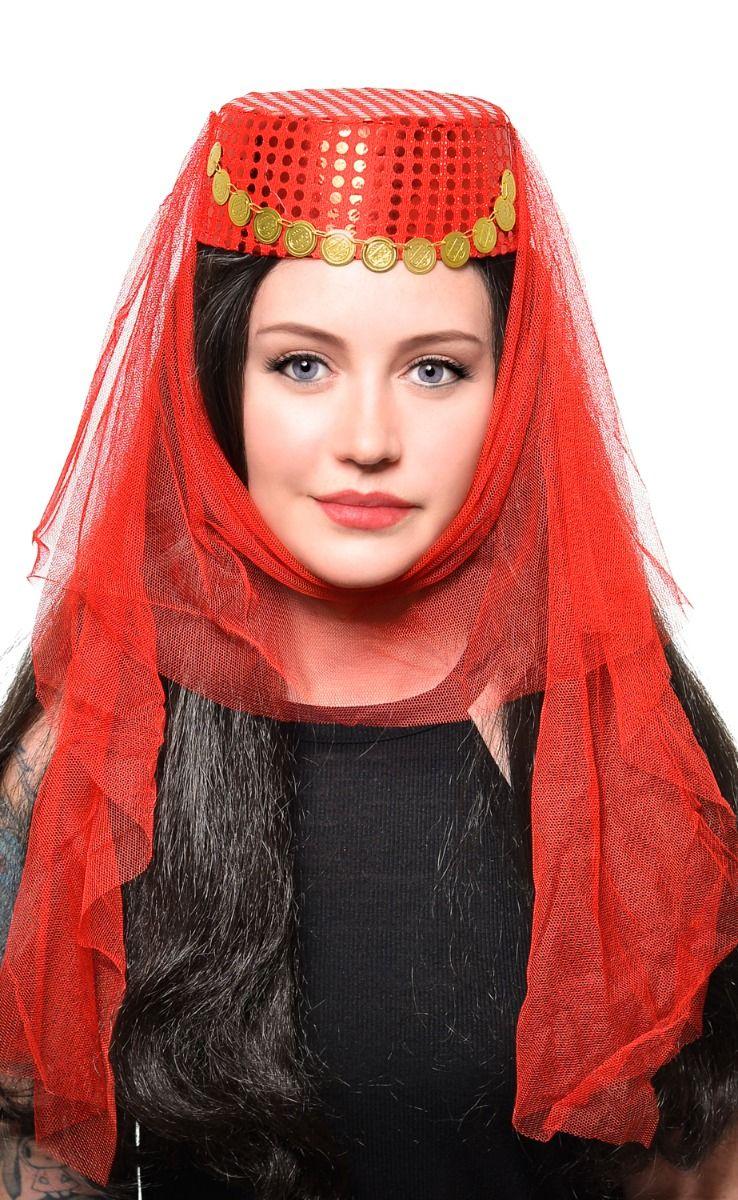 Chapeau calot Oriental rouge