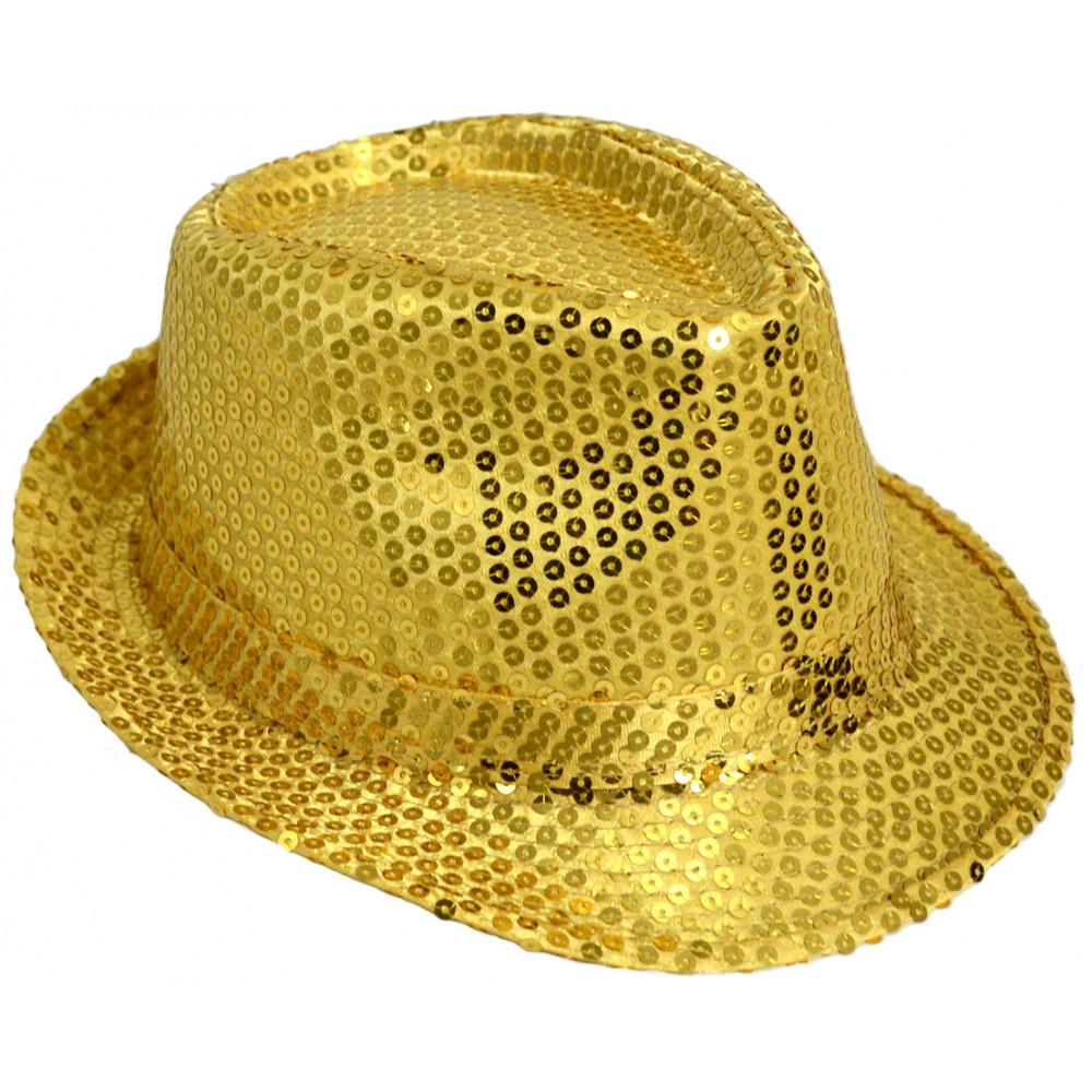 Chapeau Borsalino à paillettes or
