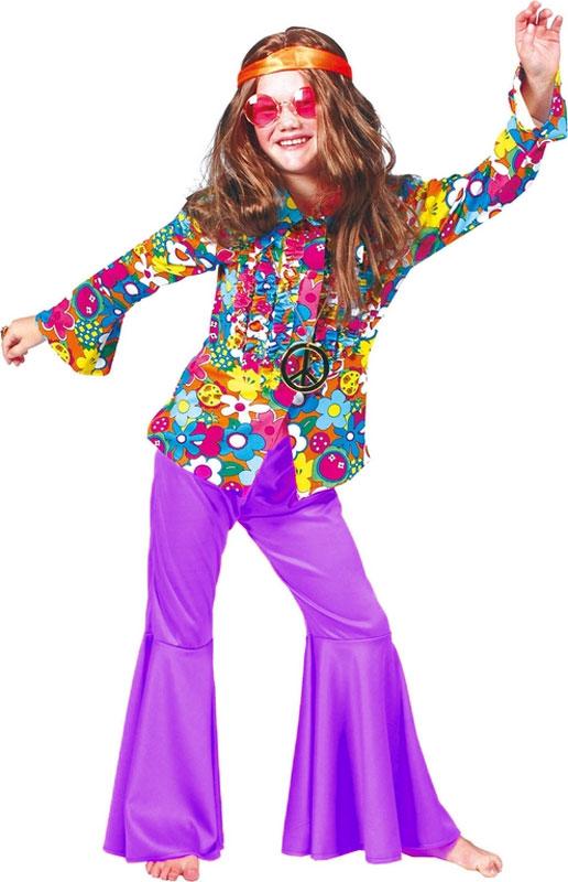 Chemise hippie fleurs enfant