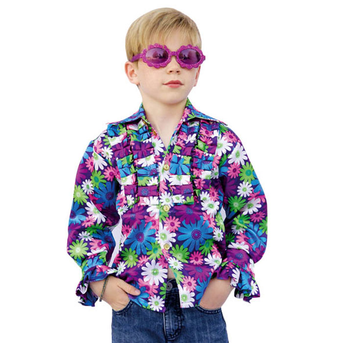 Chemise hippie enfants à fleurs