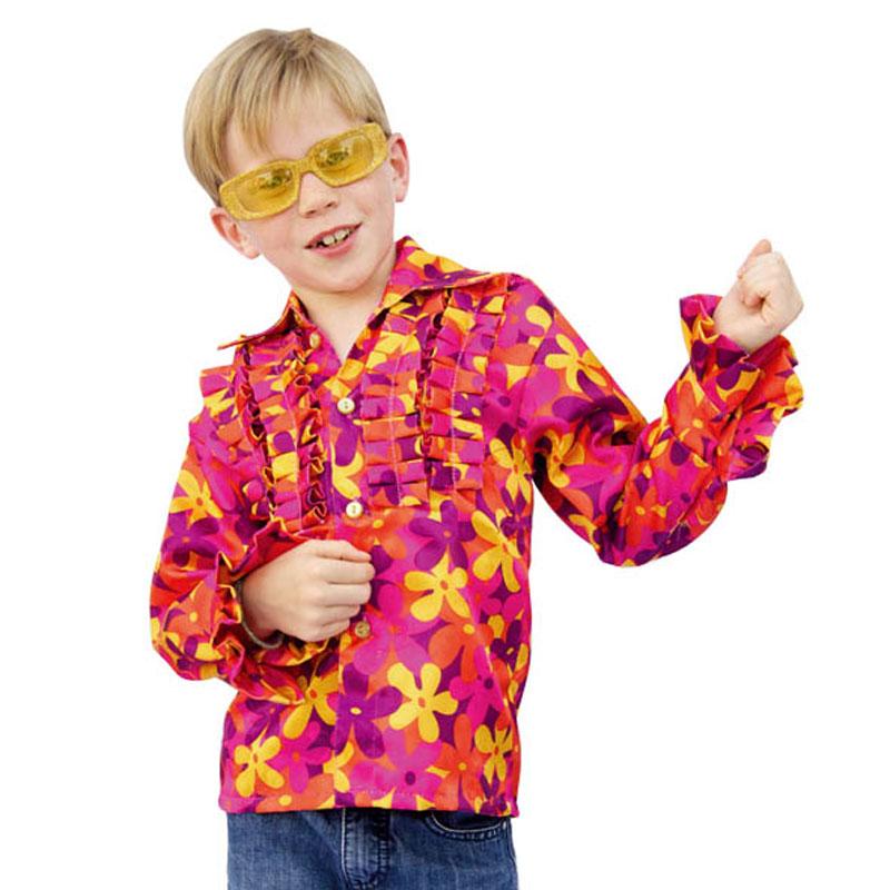 Chemise hippie enfant à fleurs