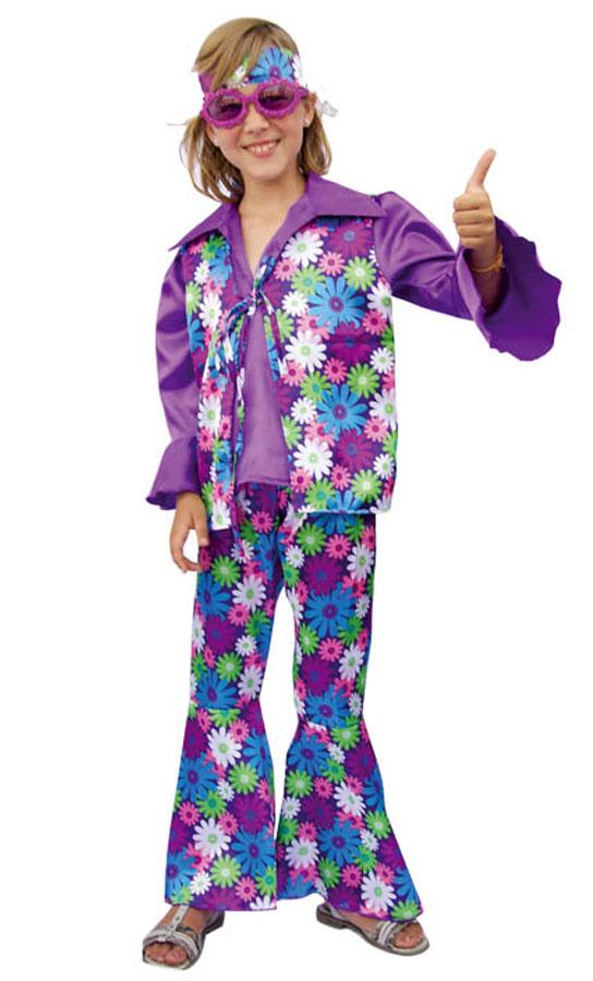 Déguisement hippie enfant violet